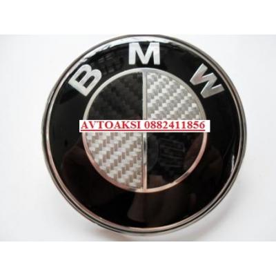 Емблеми за BMW черен карбон